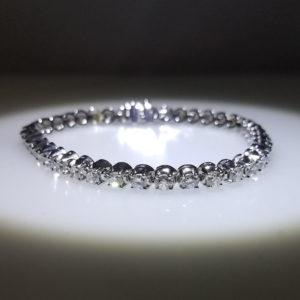 14K White Gold 6.00ct Diamond Tennis Bracelet