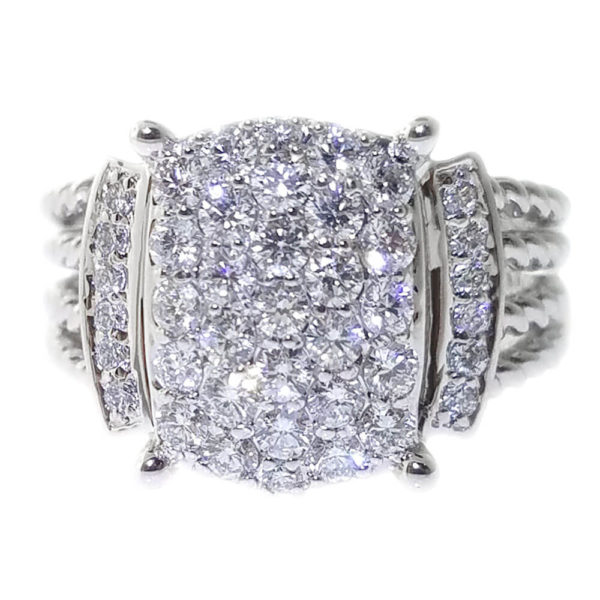 14K Whilte Gold 0.97ct Diamond Ring