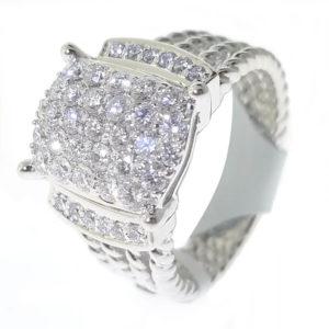 14K Whilte Gold 0.97ct Diamond Ring