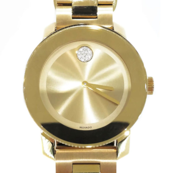 Movado Bold Series Watch - Gold Tone with Diamonds