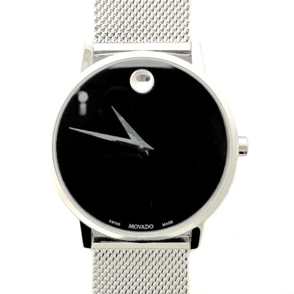 Movado Museum Watch - Classic Black & Silver