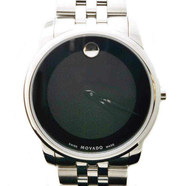 Movado Museum Watch - Black & Silver