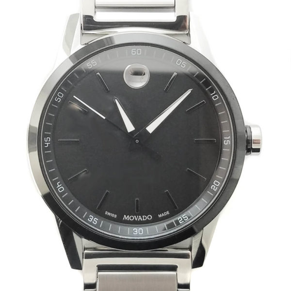 Movado Museum Watch - Silver & Dark Face