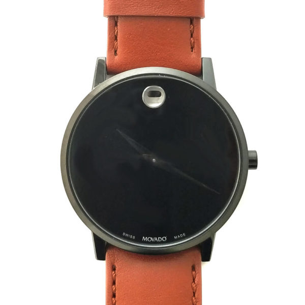 Movado Museum Watch - Black with Leather Band