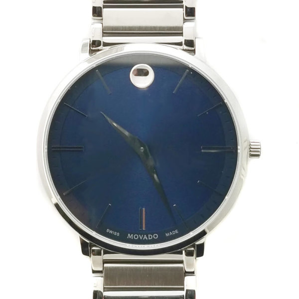 Movado Ultra Slim Series Watch - Blue Face