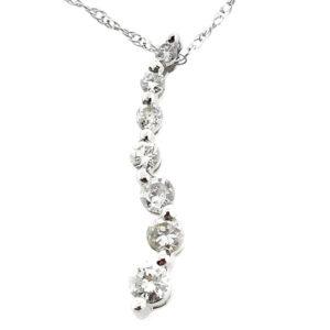 14K White Gold 0.30ct Diamond Necklace