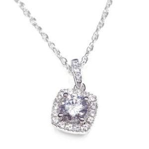 14K White Gold 0.38ct Diamond Necklace