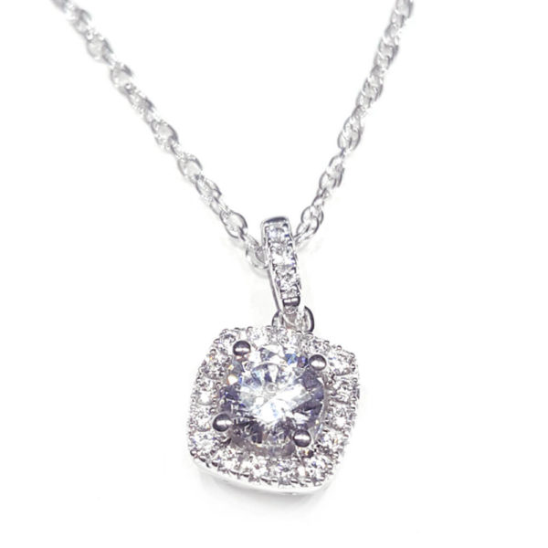 14K White Gold 0.38ct Diamond Necklace