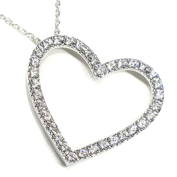 14K White Gold 0.50ct Diamond Necklace