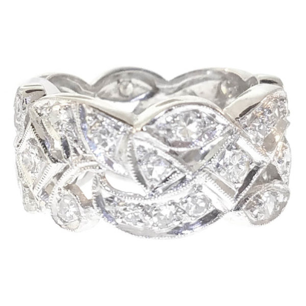 Platinum 1.50ct Diamond Wedding Band