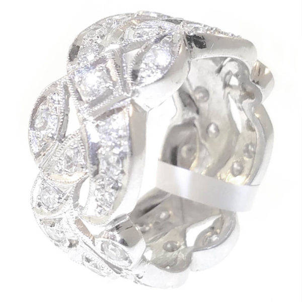 Platinum 1.50ct Diamond Wedding Band