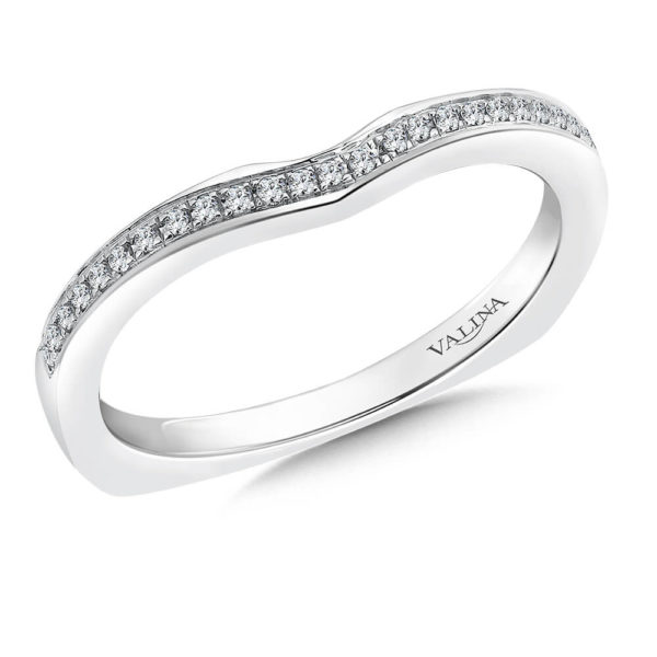 14K White Gold 0.09ct Diamond Wedding Band