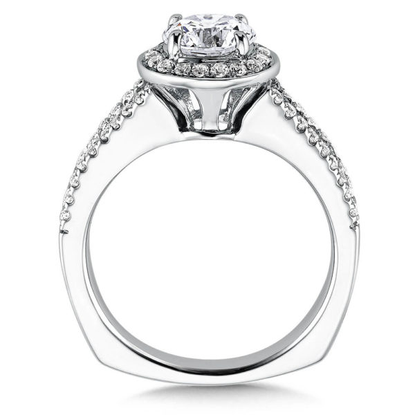 14K White Gold 0.36ct Diamond Engagement Ring