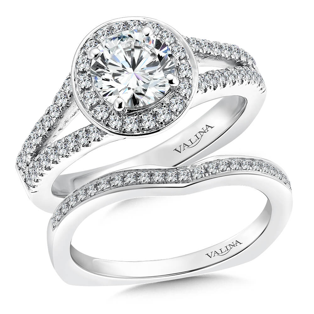 14K White Gold 0.45ct Diamond Bridal Set