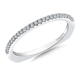 14K White Gold 0.11ct Diamond Wedding Band