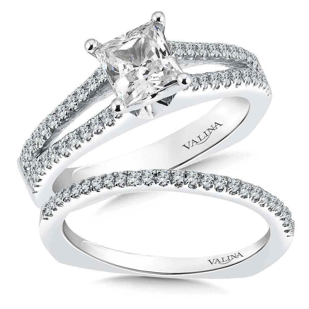 14K White Gold 0.40ct Diamond Bridal Set