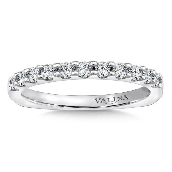 14K White Gold 0.33ct Diamond Wedding Band