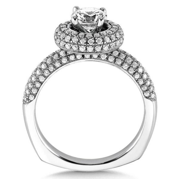 14K White Gold 0.46ct Diamond Engagement Ring