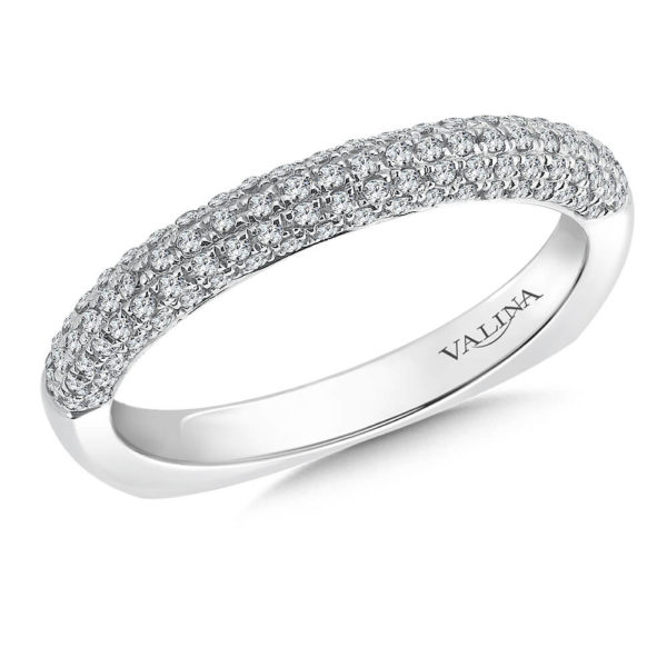 14K White Gold 0.23ct Diamond Wedding Band
