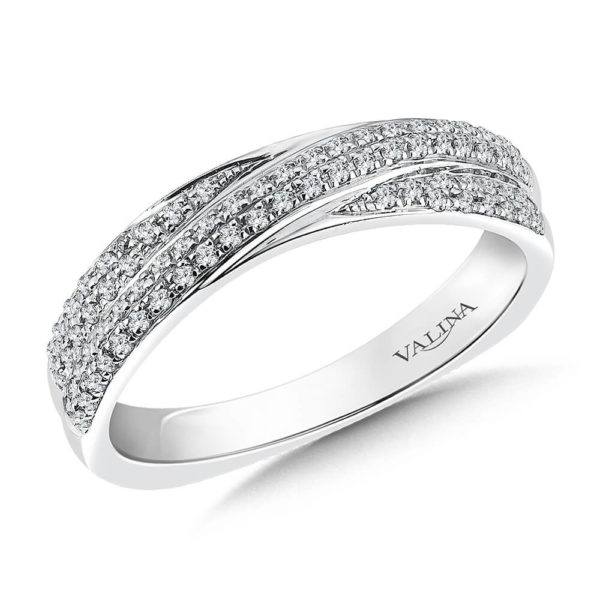 14K White Gold 0.28ct Diamond Wedding Band
