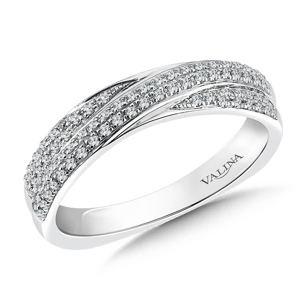 14K White Gold 0.28ct Diamond Wedding Band