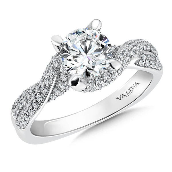 14K White Gold0.46ct Diamond Engagement Ring