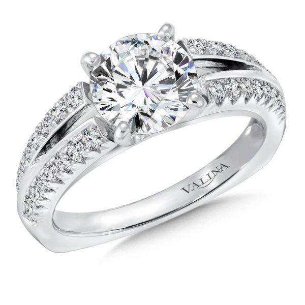 14K White Gold 0.43ct Diamond Engagement Ring