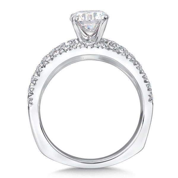 14K White Gold 0.66ct Diamond Engagement Ring