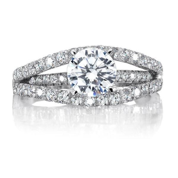 14K White Gold 0.66ct Diamond Engagement Ring