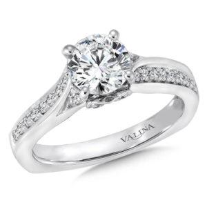 14K White Gold 0.64ct Diamond Engagement Ring