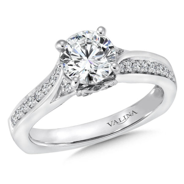 14K White Gold 0.64ct Diamond Engagement Ring