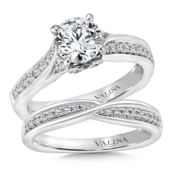 14K White Gold 0.79ct Diamond Bridal Set