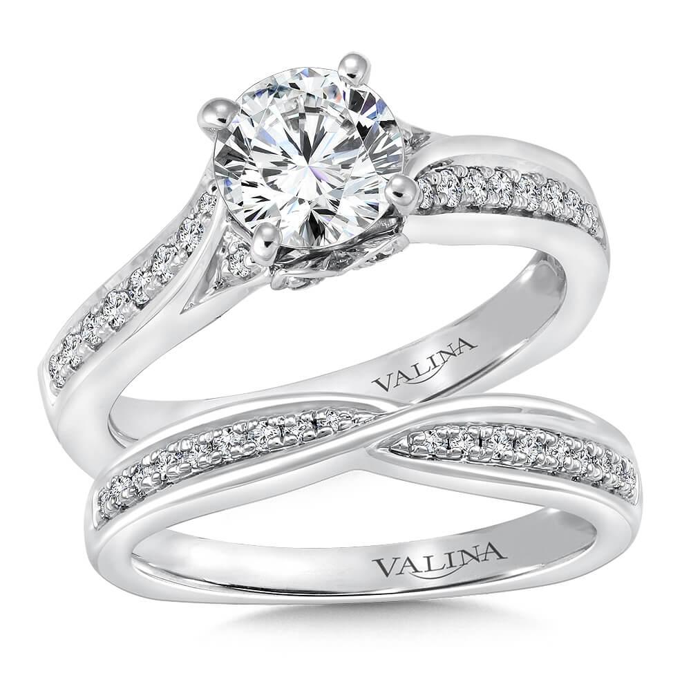 14K White Gold 0.79ct Diamond Bridal Set