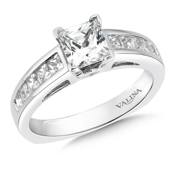 14K White Gold 0.59ct Diamond Engagement Ring