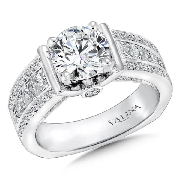 14K White Gold 0.49ct Diamond Engagement Ring