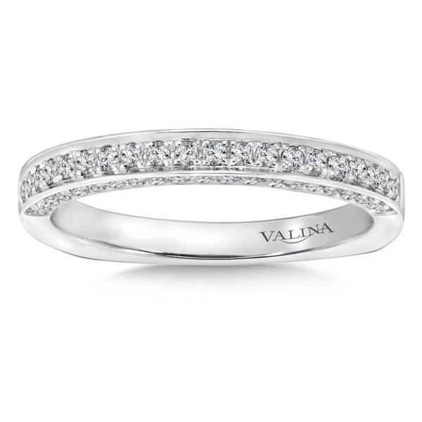 14K White Gold 0.19ct Diamond Wedding Band