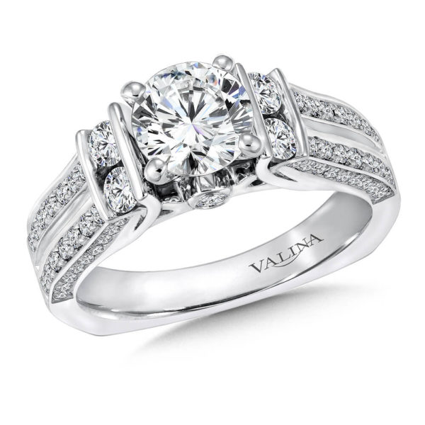 14K White Gold 0.82ct Diamond Engagement Ring