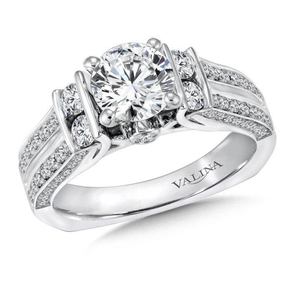 14K White Gold 0.82ct Diamond Engagement Ring