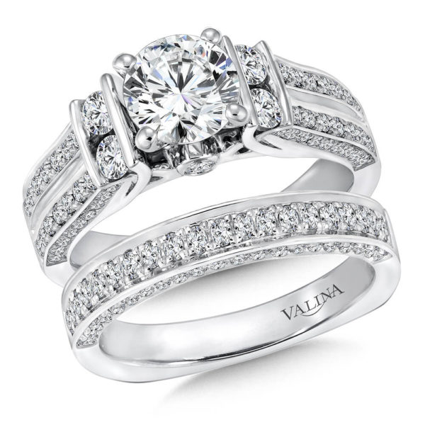 14K White Gold 1.01ct Diamond Bridal Set