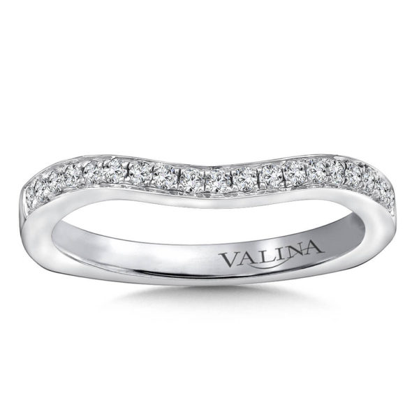 14K White Gold 0.17ct Diamond Wedding Band