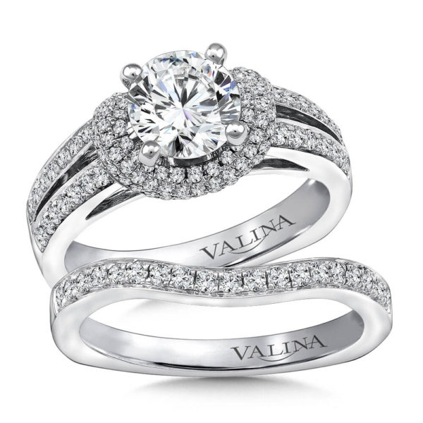 14K White Gold 0.58ct Diamond Bridal Set