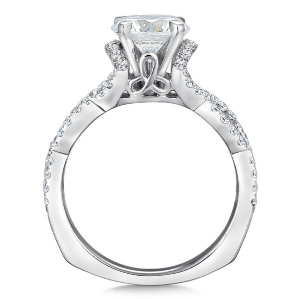 14K White Gold 0.47ct Diamond Engagement Ring