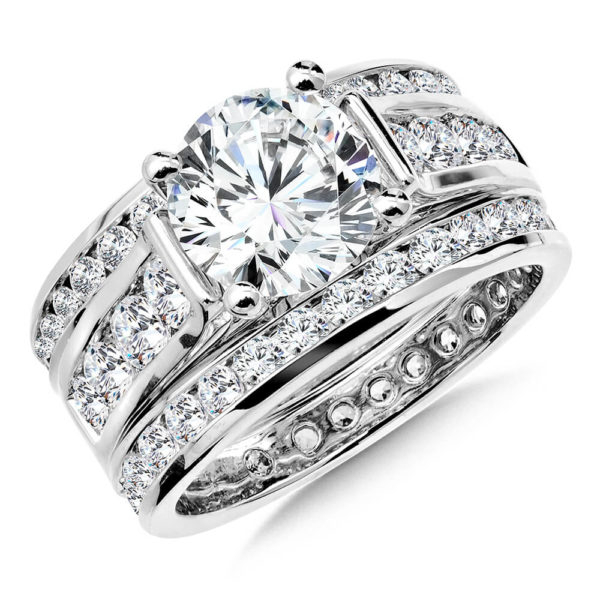 14K White Gold 0.59ct Diamond Bridal Set