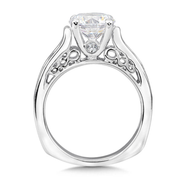 14K White Gold 0.355ct Diamond Engagement Ring