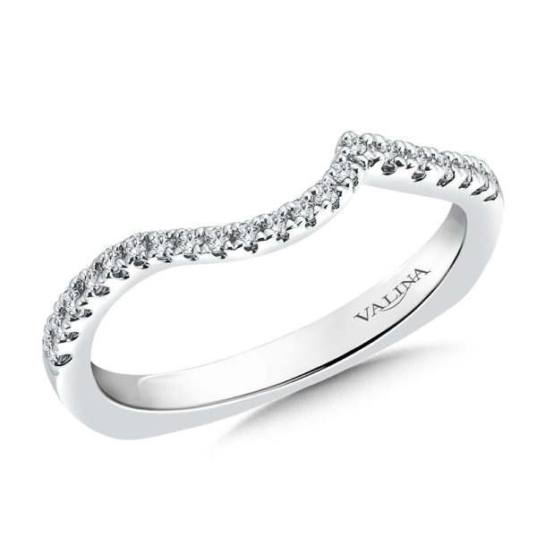 14K White Gold 0.19ct Diamond Wedding Band