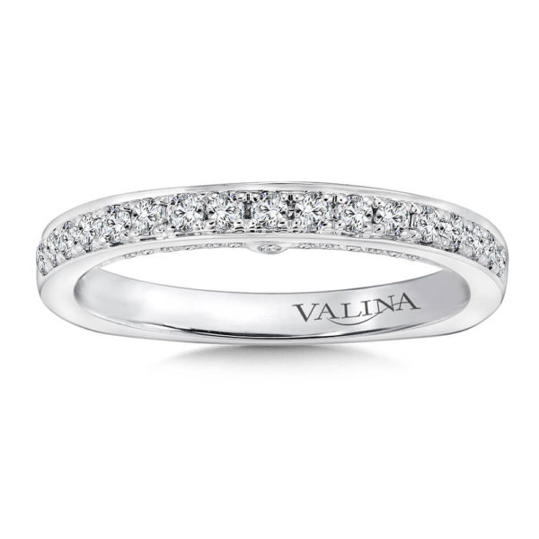 14K White Gold 0.35ct Diamond Wedding Band