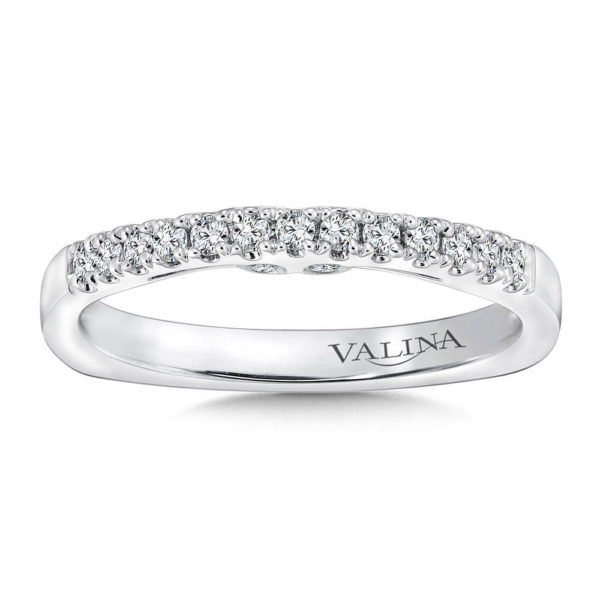 14K White Gold 0.21ct Diamond Wedding Band