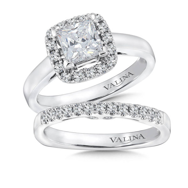 14K White Gold 0.46ct Diamond Bridal Set