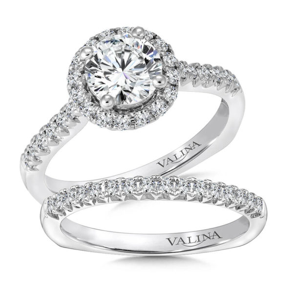 14K White Gold 0.52ct Diamond Bridal Set