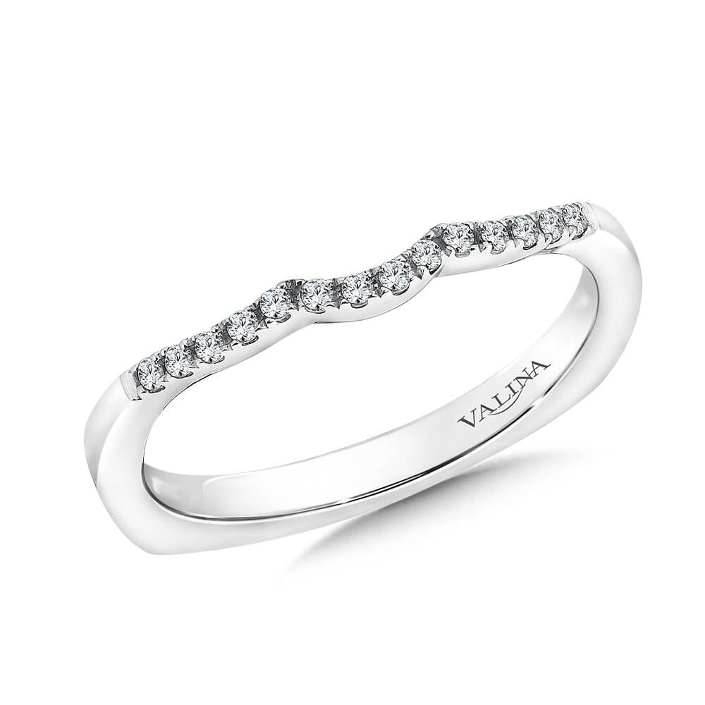 14K White Gold 0.1ct Diamond Wedding Band